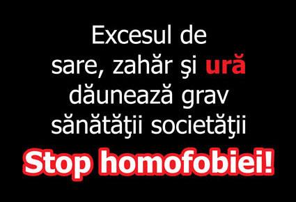 Stop homofobiei